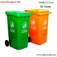 Giảm giá thùng rác nhựa 240 lít dùng trong gia đình - thùng rác có bánh xe