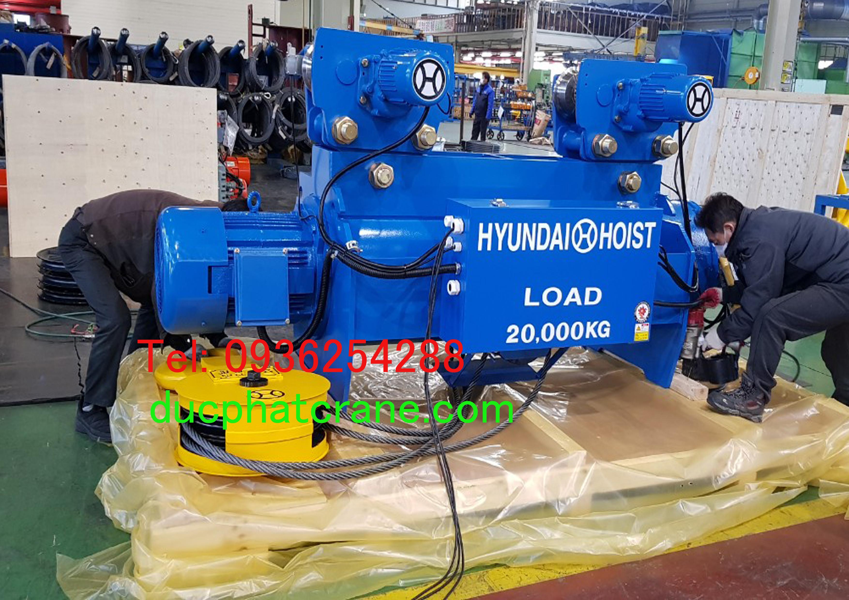 Pa lăng cáp điện Huyndai dầm đơn 7.5 tấn- 10 tấn - 15 tấn - 20 tấn