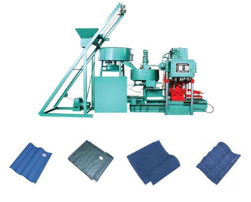 Công nghệ và dây chuyền sản xuất ngói xi măng màu Model SMY8-128